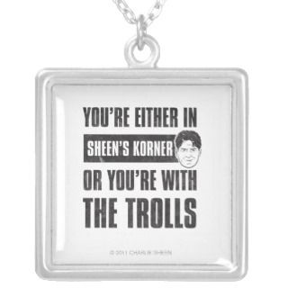 Charlie Sheen   Sheens Korner Custom Necklace