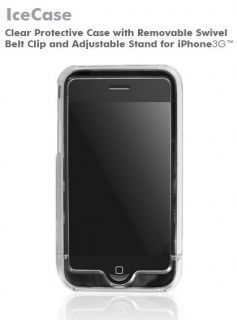 Macally Clear Ice Case Hard Cover for iPhone 3G 8 16GB
