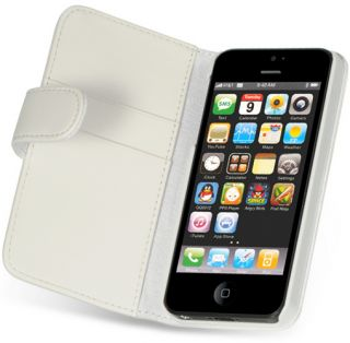 Luxmo White Dolce Wallet Credit Card ID Holder Case for Apple iPhone