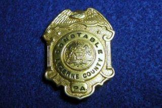 Vintage Constable Luzerne County PA Badge Excellent Condition