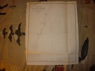 1853 Antique Sea Coast of Virginia Map w Lighthouse