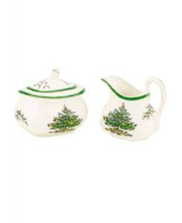 Spode Dinnerware, Christmas Tree Hostess Set Covered Butter, Salt and