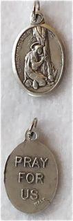 St Mary Magdalene Oxidized Catholic Patron Saint Medal Charm Free s H
