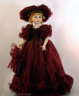 Victorian Limited Edition Porcelain Collectible Doll