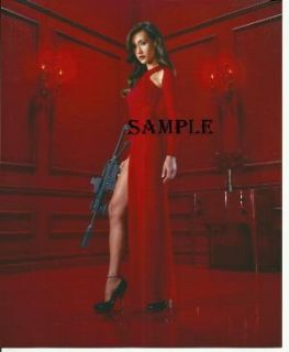Maggie Q Hot Nikita Red Dress Standing Gun Photo