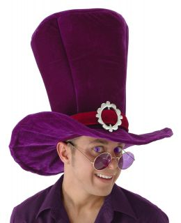 Alice in Wonderland Mad Hatter Madhatter Adult Giant Top Hat Purple