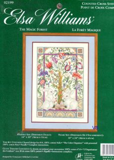 Williams Counted Cross Stitch Kit 14 x 20 ~ MAGIC FOREST #02199 Sale