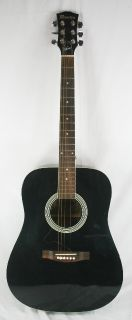 Maestro Gibson Black Full Size Acoustic Guitar as Is