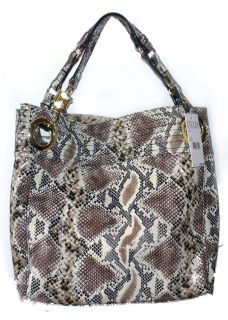 Steve Madden Handbag Candy Coated Cobra Embossed Faux Leather Tote