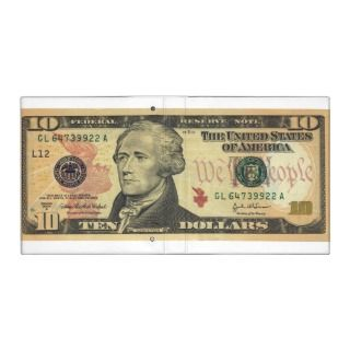 Ten Dollar Bill Federal Reserve Note Series 2004A 3 Ring Binder