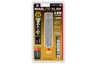 Mag Instrument XL 50 LED Flashlight w Strobe Blister Pack Silver XL50