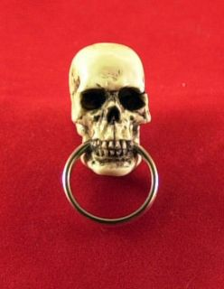 Skull Key Chain Ring Hot Rat Street Rod Made in USA 19