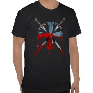 Templer cross + Swords/Knights CROSS T Shirt