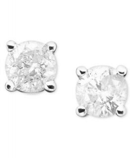 14k White Gold Diamond Studs (1/10   1/2 ct. t.w.)   Earrings