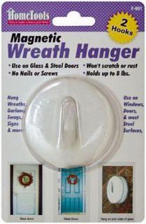 Magnetic Wreath Door Hanger Hooks 2 Pcs Snow White