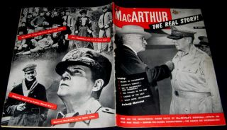 General Douglas MacArthur 1951 Pictorial Real Story