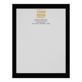 Cash Money US Dollar Bills Piled Up Letterhead Template