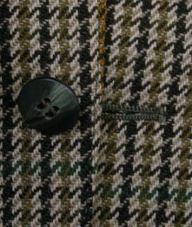 Magee Tweed Sport Coat Wolfhound Twist Brown Houndstooth Wool 42R