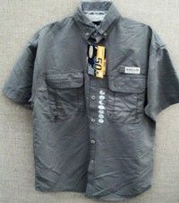 Magellan Youth UPF 50 Vented Back Large Fishing Shirt Gray Cheapest on