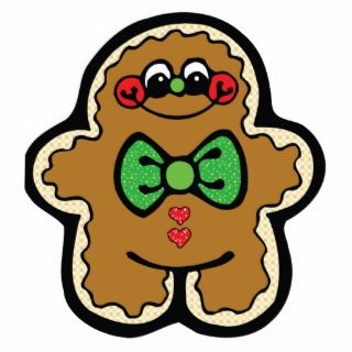 cute little gingerbread man photo cut out