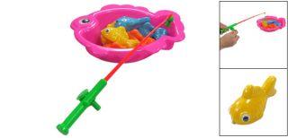 Children Magnetic Fish Rod Tip Plastic Fishing Game Toy Set