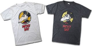 Mickey Rat Vintage T Shirt Tee White or Dark Grey Sz s M or L Very