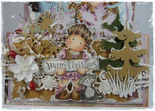 OOAK Magnolia Tilda Christmas Card
