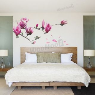 Large Magnolia Mural Wall Sticker Decal Home Door Decor