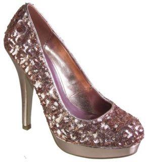 Madden Girl Trebel Fancy Sequin Dressy Pumps Womens High Heels Shoes