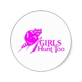 GIRL COON HUNTING STICKER