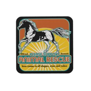 Animal Rescue Horse Beverage Coaster