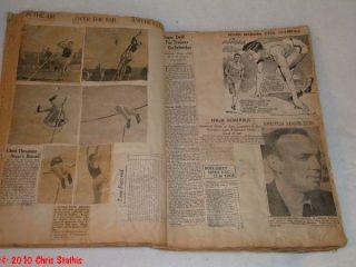 1936 Track Field Scrapbook Jesse Owens News Clipping