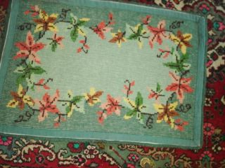 Lovely Vintage Hand Hooked Area Rug Fall Colors and Theme
