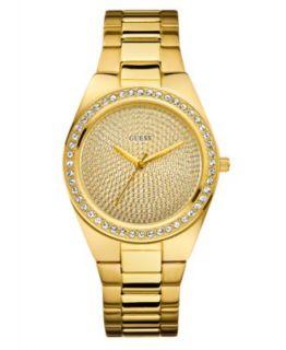 GUESS Watch, Womens Gold Tone Stainless Steel Bracelet 37mm U0111L2