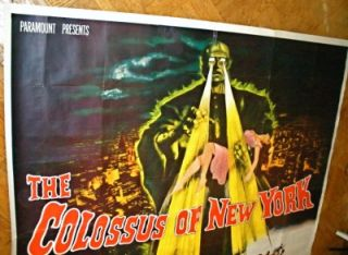 Colossus of New York Robot Monster Mala Powers Horror Sci Fi 6 Sheet