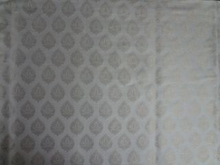 100 Pure Silk Brocade Fabric Metallic Gold Ivory Color