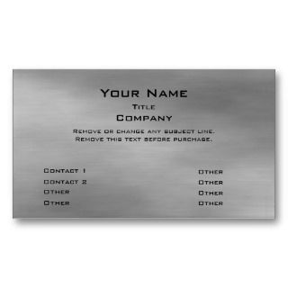 Metal Business Card 2.0   Silver info bar