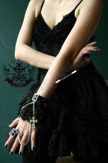 Gothic Doll EGL Mana French Lolita Tiered Lace Cuff Set