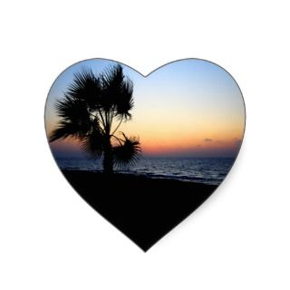 Romantic beach scene. sticker