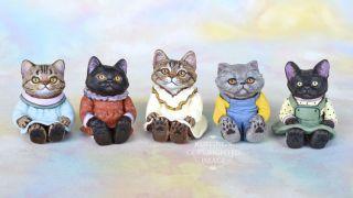 OOAK Miniature Tabby Maine Coon Kitten Original Folk Art Cat Doll Max