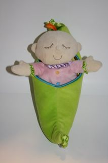 Manhattan Toy Plush Sweet Pea Baby Doll Snuggle Pod 12