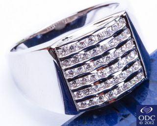 Bling Sparkle Mens Russian CZ 925 Sterling Silver Ring Sizes 7 13