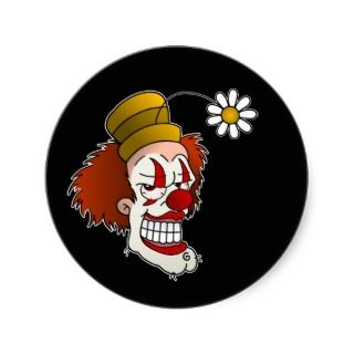 Smiling Clown Stickers