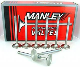 11537 8 Manley Severe Duty Exhaust Valves 1 625 100 Long SB Chevy 350