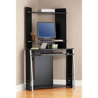 Mainstays Corner Computer Tower Table Desk Office Study New Black
