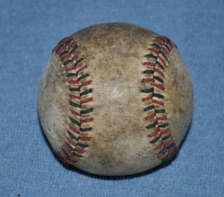 Vintage Red Black Stitched Baseball Old Poss National League