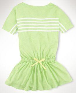 Ralph Lauren Girls Dress, Little Girls Engineer Stripe