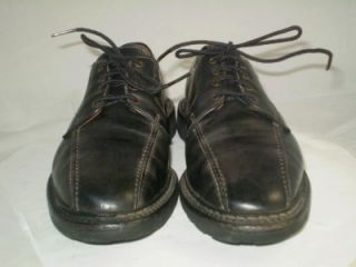 Allen Edmonds Oxford Mapleton Bicycle Toe Shoe Blucher Black Leather 8