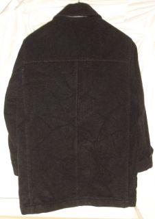 Marc New York Andrew Marc Black Wool Walker Coat Mens Large