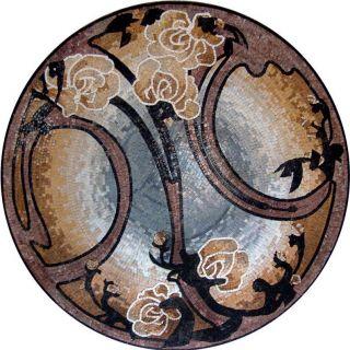 Medallion Mosaic Pattern Tile Art Stone Floor Tabletop